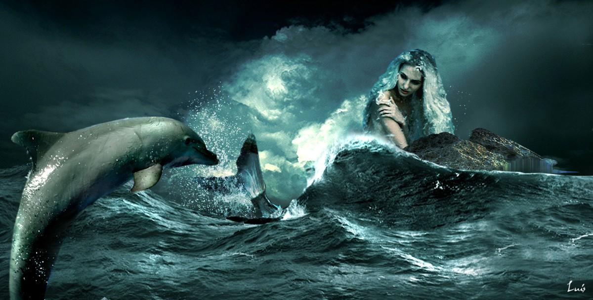 mermaid 8 loscuatroelementos com by Luis sirena-y-delfin-3