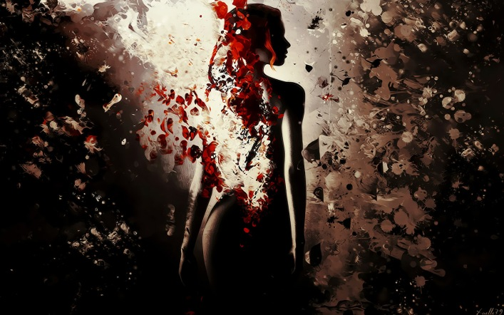 woman rose rose_in_darkness_by_xaelle39-d3h6uw0