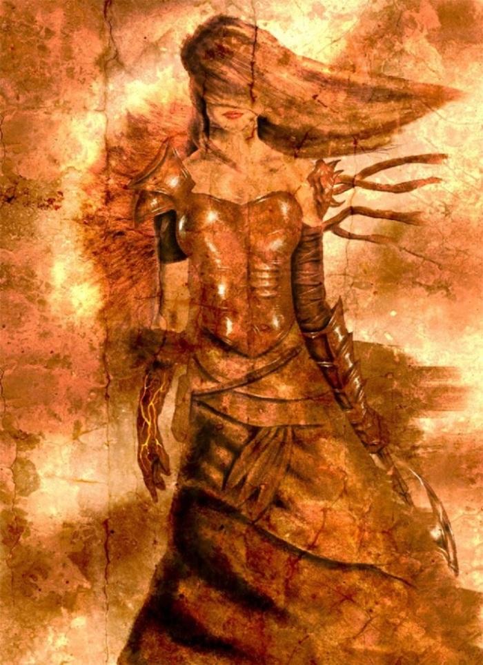 fire digitalartgallery com 640x882_14704_Lady_of_fire_2d_fantasy_girl_woman_warrior_picture_image_digital_art