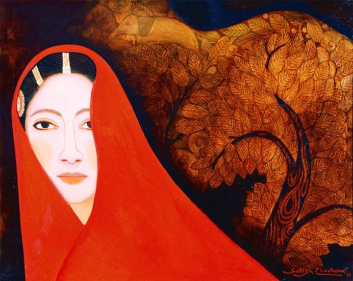 Abhisarika-Nayika----14x18-inches--oil-on-canvas----95000
