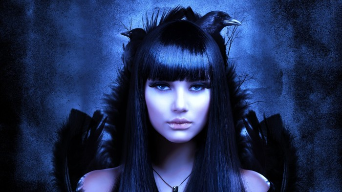 close gothicfaerytales com gothic-girl-and-birds-face-dark-poe-vampire-raven-crow-women-females-girls-1427639