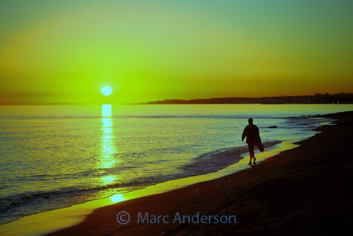 Silhouette of a man in Costa del Sol, Spain marcanderson.com