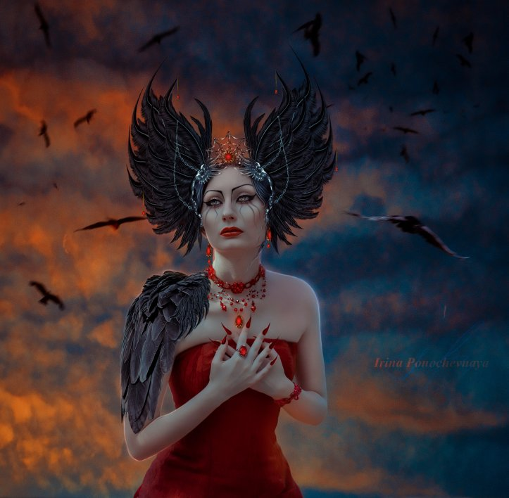 water air deviantart com and_only_crows_circling_____by_irinaponochevnaya-d98xzu7