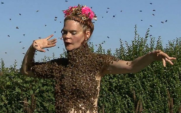 Eleven yettrue com woman dances with 12,000 honey bees