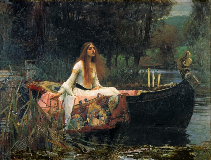 journey pinterest com Waterhouse John William -The lady of shalott - 1888