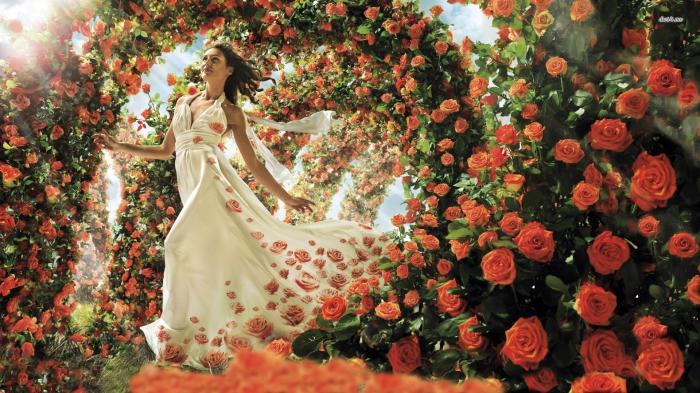 woman rose 2