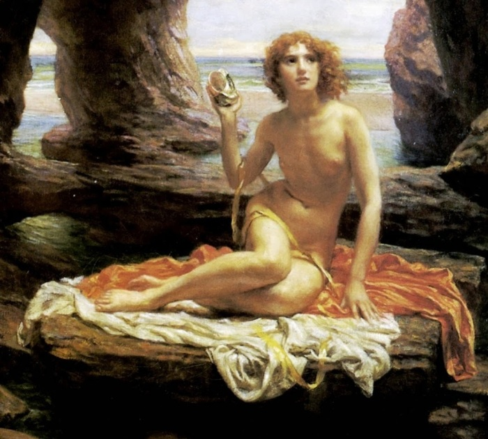 01greekmythology blogspot com edward poynter english painter 1836 – 1919 5 stars phistars At Low Tide