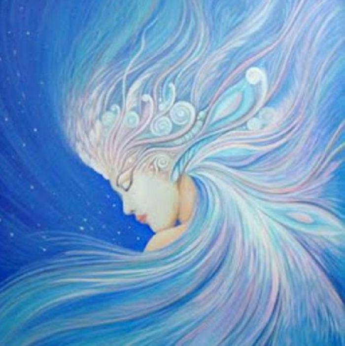 blue kathycrabbe cancer artist - Celestial