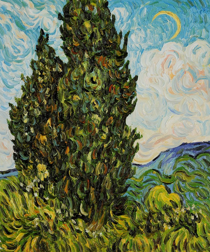 cypresses pali-shop com Two Cypresses by Vincent Van Gogh