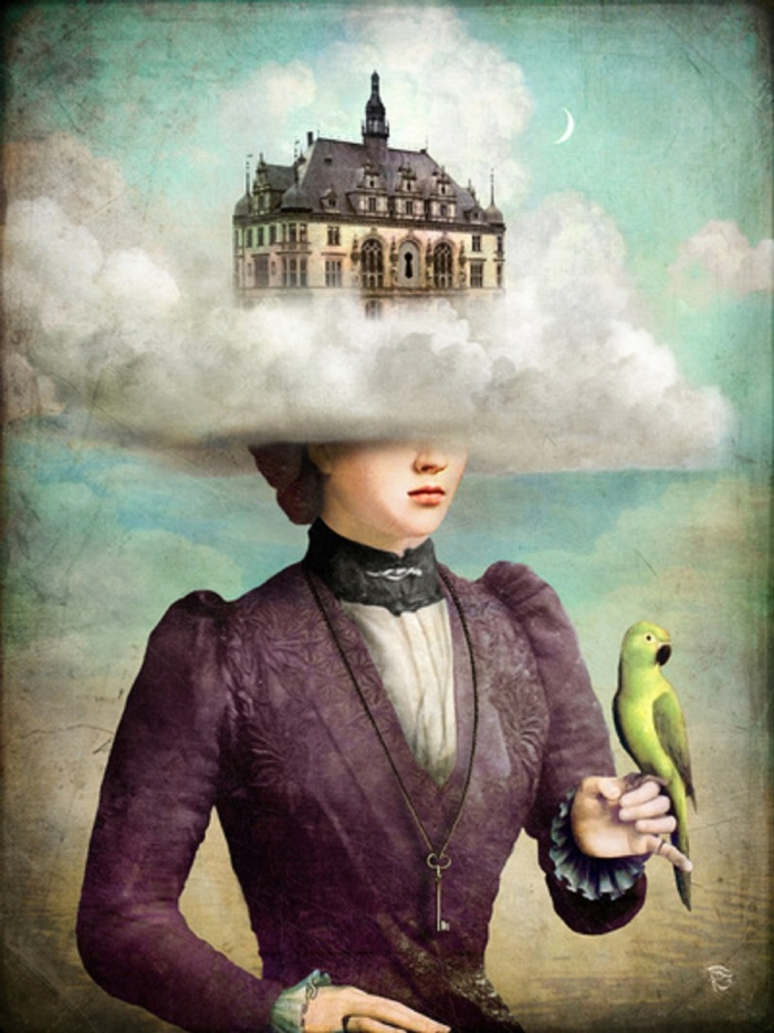 christian-schloe-woman-head-in-clouds-and-bird