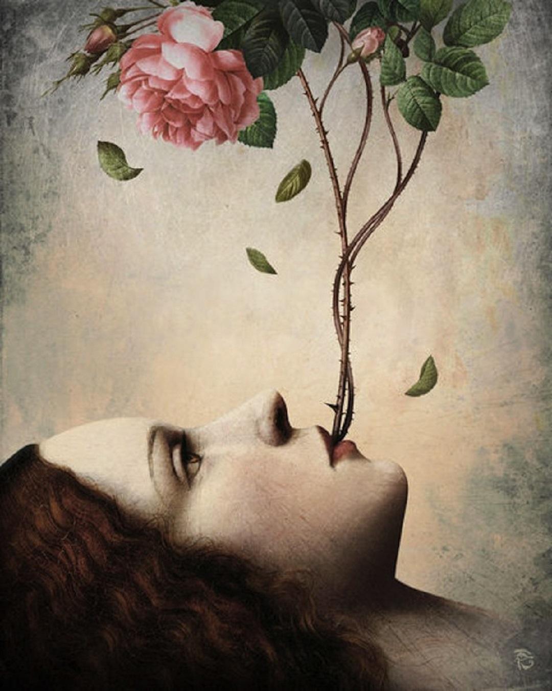 christian-schloe-woman-talks-rose-bush