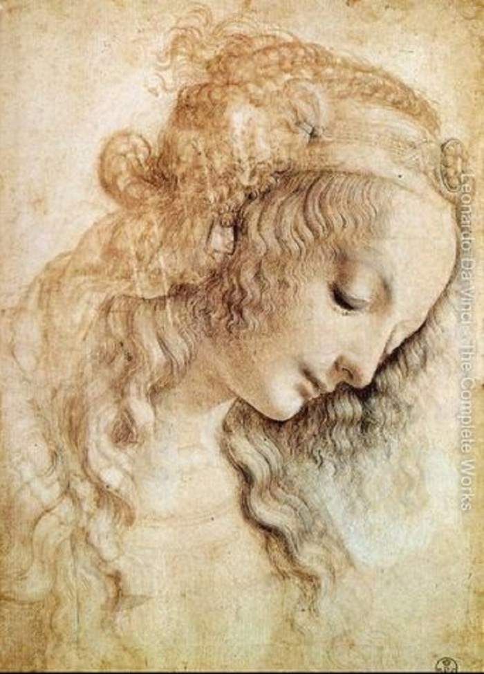 Head-of-a-Woman-2 Leonardo da vinci