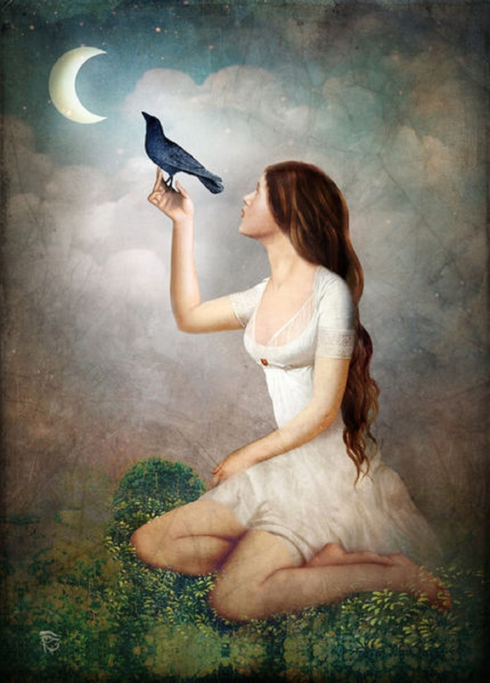 Christian Schloe artflakes com the-moon-asked-the-crow