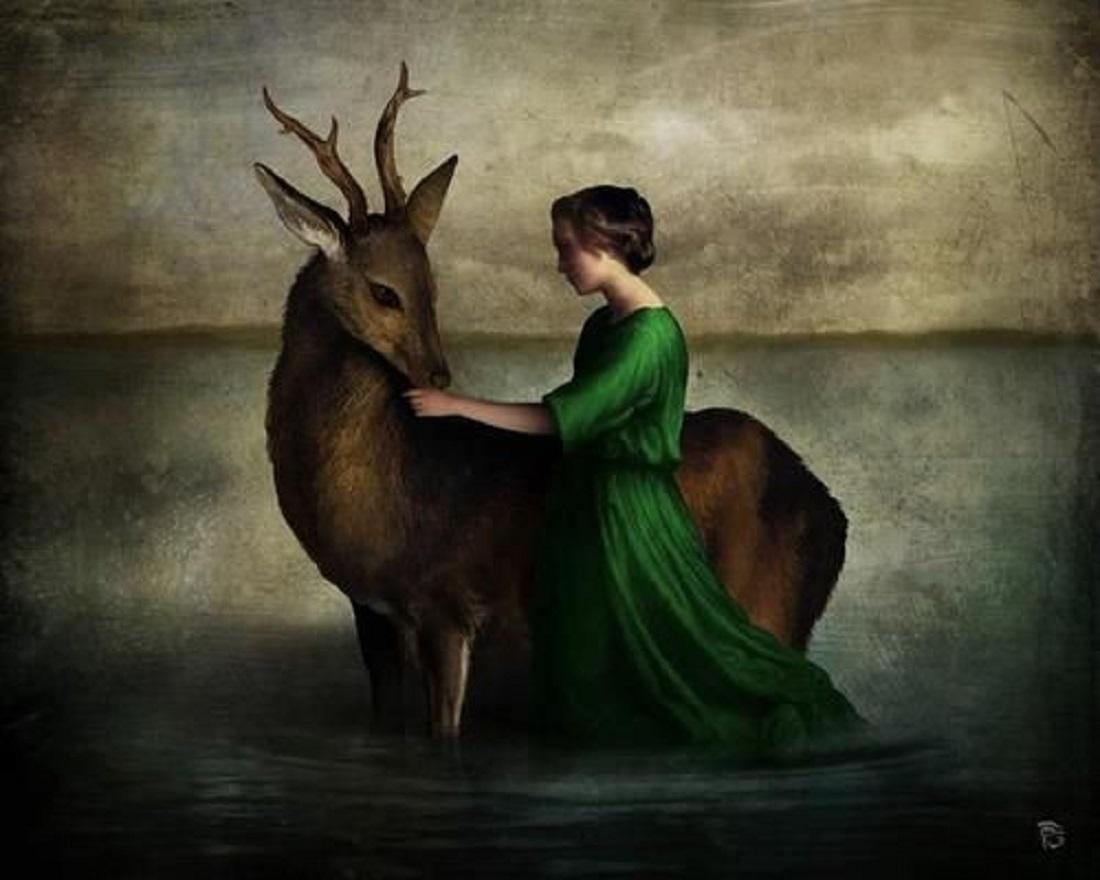 christian schloe cerf et fille pinterest com digital-art-digital-collage