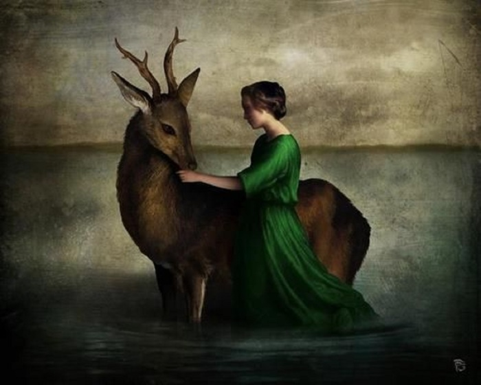 christian schloe cerf et fille pinterest com digital-art-digital-collage